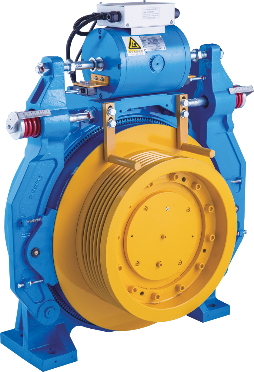 Elevator Gearless Traction Machine 3000kg Shaft Load