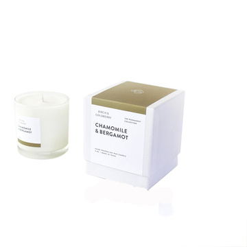 White Custom Logo Paper Candle Jars Box