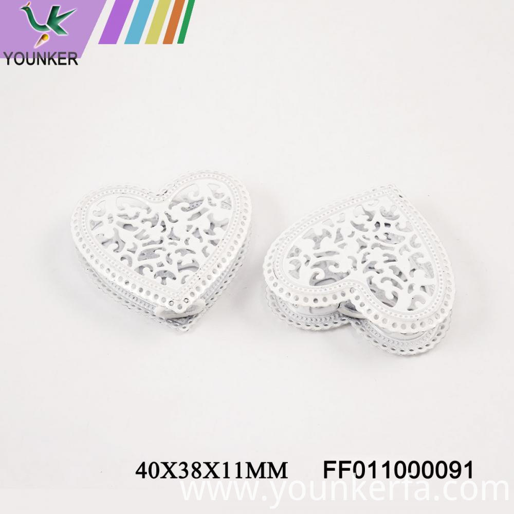 White Led String Heart Shape Ornaments