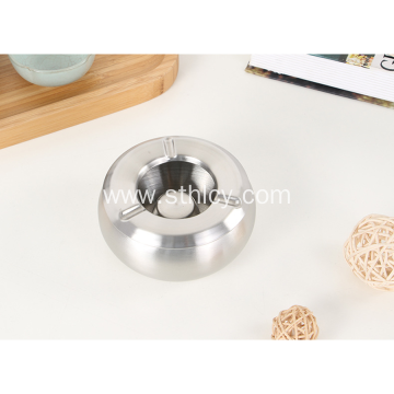 Stainless Steel Metal Creative Drum Ashtray