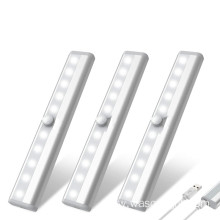 10LED USB Rechargeable Under Cabinet Motion Sensor Light