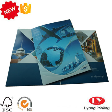 Paper file folder for office