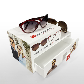 APEX Custom White Eyewear Case Sunglass Display Box