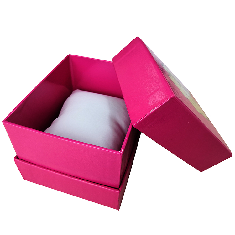 Custom Rigid Packaging Gift Watch Box With Pillow