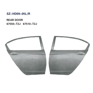 Steel Body Autoparts Honda 2014 Accord REAR DOOR