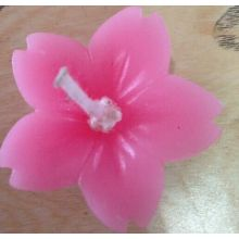 hand made carved flower candle decoration