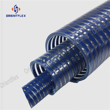 Spiral reinforced flexible suction hose