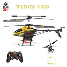 Original Wltoys V388 RC Drone 2.4G 3.5CH Colorful Lights With Hanging Basket RC Quadcopter Helicopter Toys For Kids Gifts