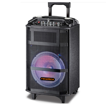Trolley 12inch Woofer Multimedia Bluetooth Karaoke Speaker
