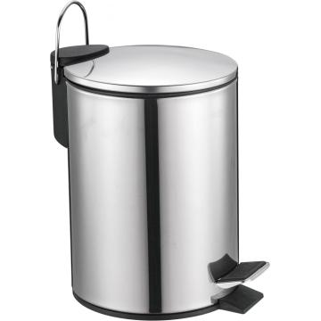 Trash can with thin cover
