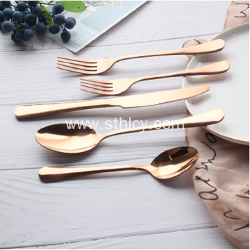 Hotel Rose Gold Stainless Steel Cutlery
