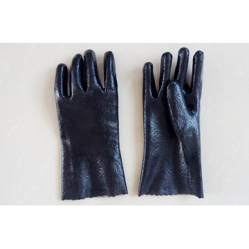 Semi Rough PVC Coated Gloves