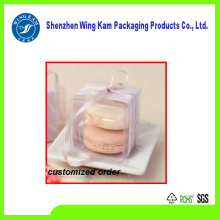 Plastic PET transparent luxury food stand cake boxe package with factory price