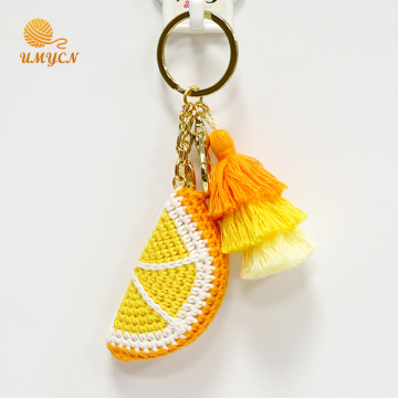 Wholesale Crochet Orange Key Chain Accessories