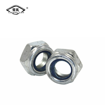 factory sales zinc plated nylon lock nuts