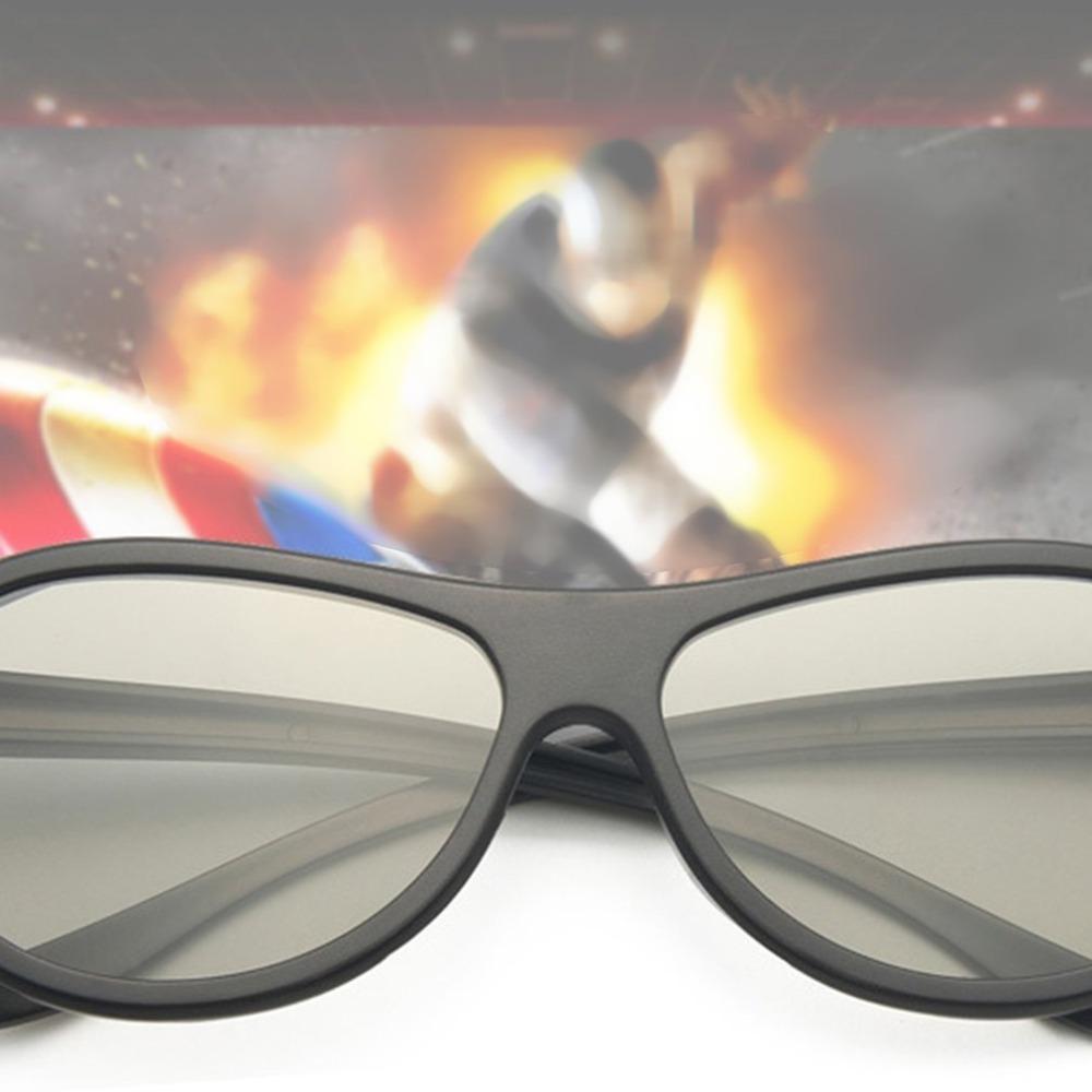 Hot Sale Circular Polarizing Passive Woman Man 3D Movie Glasses For 3D TV Cinemas High Quality Fashion