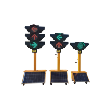 300mm 400mm Solar Mobile Portable Traffic Light For Emergency