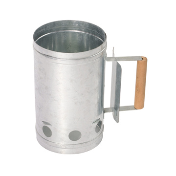 BBQ Galvanized Steel Chimney Lighter Basket Charcoal Starter