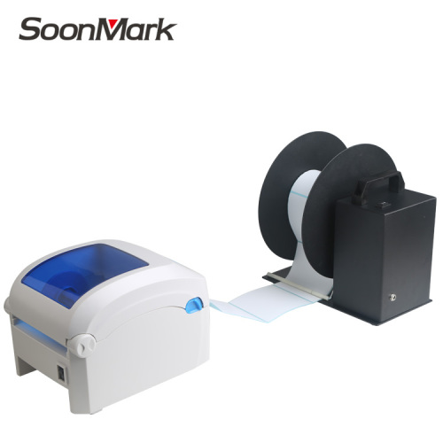 Barcode label printer automatic external rewinder machine