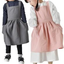 Kids Apron Pure Cotton Apron Pure Color High Quality Kitchen Baking Gadget Cafes Casual Bar Cooking Cute Kids Cleaning Aprons