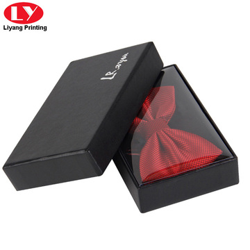 Custom black bow tie packaging box printing