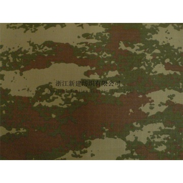 Polyester PU Coating Camouflage Fabric for Turkey