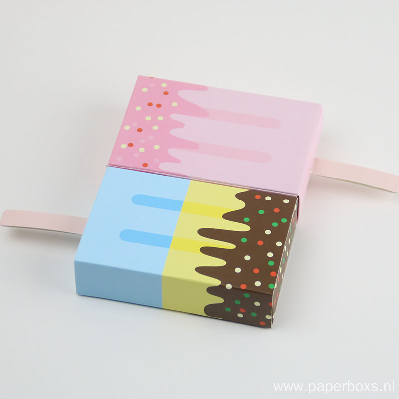 Luxury Ice Cream Baby Shower Gift Paper Box