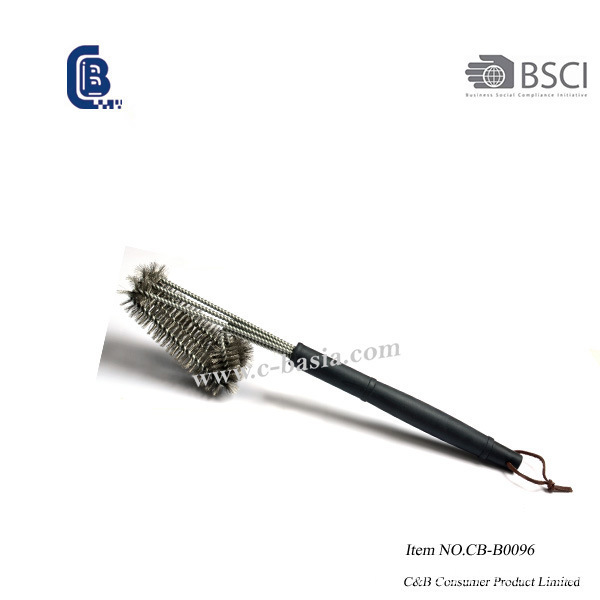 Double Pad Stainless Steel BBQ Grill Cleaning Brush