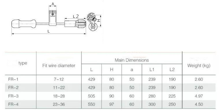 FR Damper for Electric Power Fitting