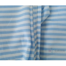 Striped Blue And White Yarn Dyed Cotton Fabric