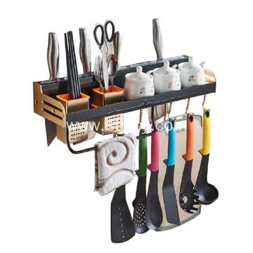 Wall Mounted Space Aluminum Kitchen Utensil Rack