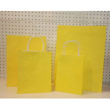 Yellow Printed Twist Handle Gift Paper Bag