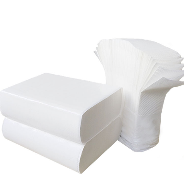 Multiple fold methods paper towel for bathroom
