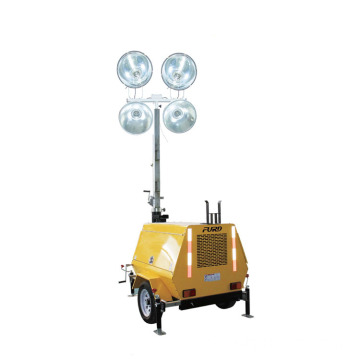 3 sections telescoping mast 9m outdoor emergency trailer light tower FZMDTC-1000B