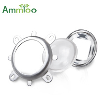 44mm Optical Glass LED Lens Set 60/120 Degree+50mm Reflector Collimator+Fixed Bracket For Spotlight High Power COB LED Chip Lamp