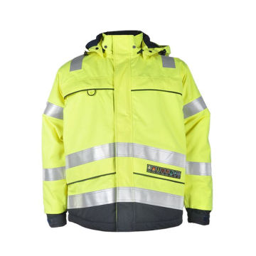 construction safety work fire retardant waterproof jacket