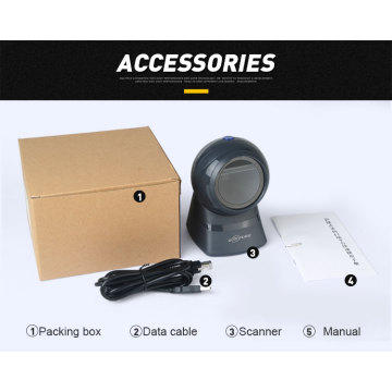 Desktop Flatbed 2d wired imager barcode scanner