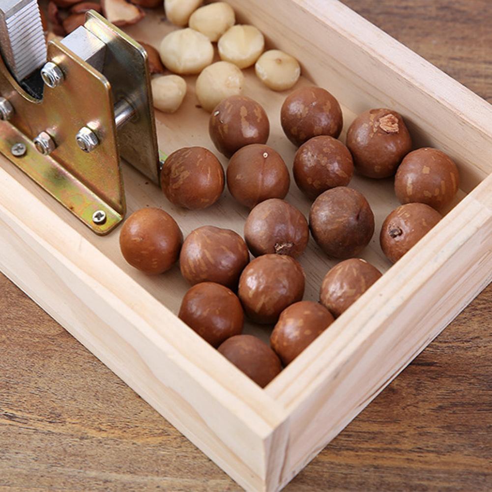 Metal Durable Peeling Machine Macadamia Opener Portable Walnut Tool Nut Cracker Non Slip Kitchen Rustproof With Handle Sheller