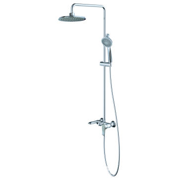 Shower faucet set with tub shower brass
