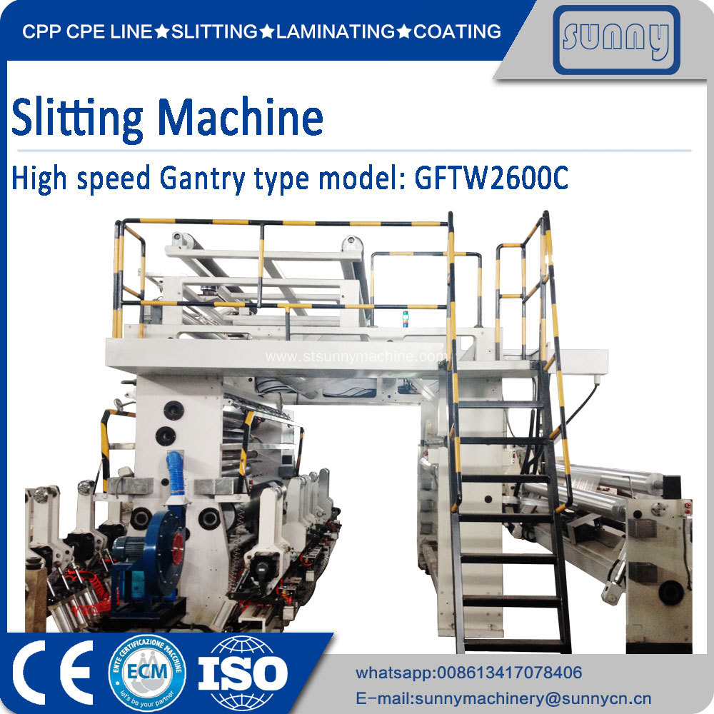 Surface Winding Slitter Machine SUNNY MACHINERY