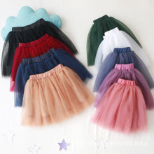 Custom Color Knee-length Mesh Layered Girl Skirt