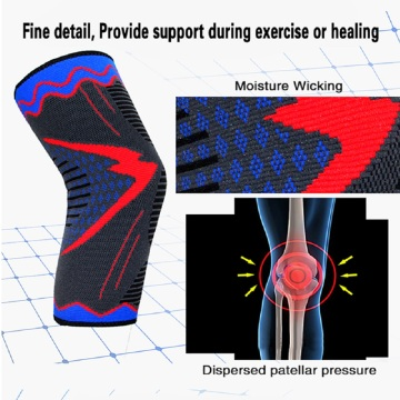 Anti-slip fitness knee sleeves