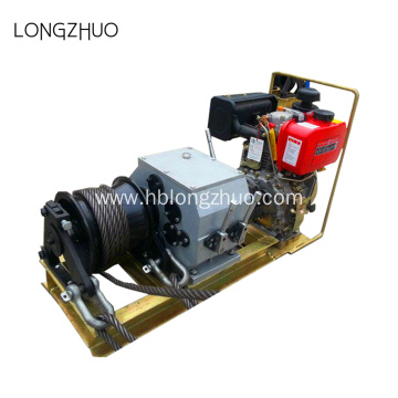 3 Ton Cable Powered Winch With Petrol Engine
