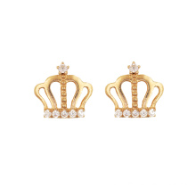 Princess Crown Stud Earring K Gold