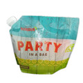 Large capacity stand-up water wine spout bag