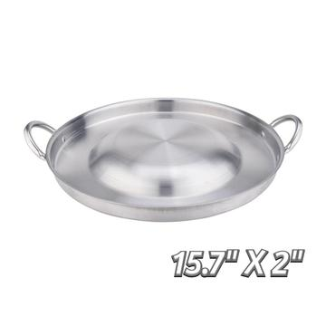 15.7 Inch Heavy Duty Stainless Steel Convex Comal