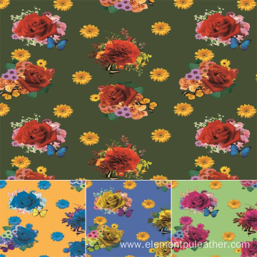 digital printing pu leather for bags and garment