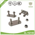 Side Curtain Buckle/Roller Fixing Kit 2-bolt Plated SS