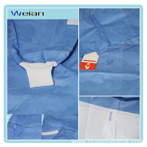 Disosable standard surgical gown