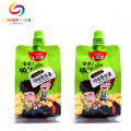 liquid packaging plastic bag with spout